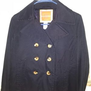 Isaac Mizrahi Double Breasted Dark Navy Jacket